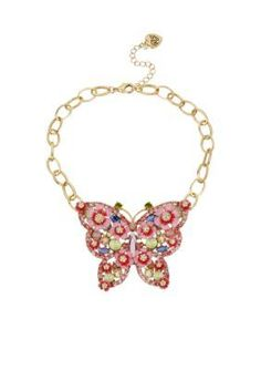 Betsey Johnson  Butterfly Frontal Necklace