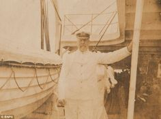 Captain Smith on RMS Baltic - a few years before his transfer to the doomed Titanic