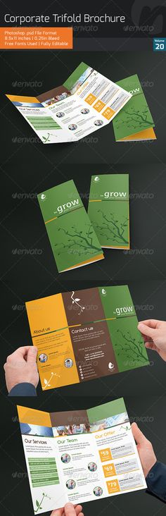 Corporate Trifold Brochure V20  Like simple info on inside. Not sure abt colors