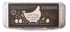 Otaika Valley free range mixed grade 10 pack premium eggs carton.