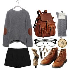 A fashion look from October 2013 featuring Acne Studios shorts and Falke socks. Browse and shop related looks.