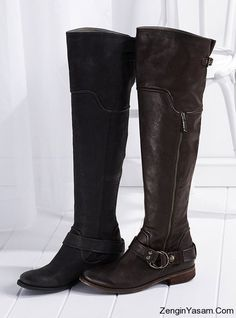87ae6f615829 Victoria Secret-riding boot - shown in brown and black Big Black Boots