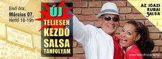 Új kezdő kubai salsa tanfolyam március 07-től! www.salsatropical.hu
