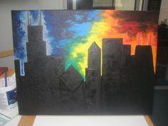Chicago Skyline Painting - '