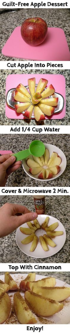 Easy Microwave Baked Apple Dessert