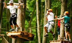 Groupon - $32 for Three Hours of Aerial Ropes and Ziplining from Treetop Trekking by Arbraska ($69 Value) in Huntsville. Groupon deal price: $32.00