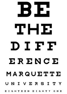 This vision test is no problem. #marquette