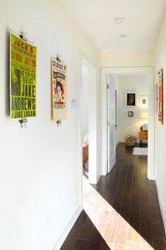 Coronado Terrace - hallway vintage poster display