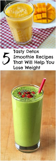 5 Tasty Detox Smoothie Recipes That Will Help You Lose Weight