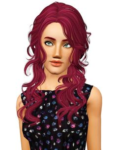 Newsea`s Peppermint hairstyle retextured by Pocket for Sims 3 - Sims Hairs - http://simshairs.com/newseas-peppermint-hairstyle-retextured-by-pocket/