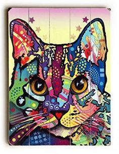 This Maya Cat wood sign by Artist Dean Russo is sure to bring style to your space and a smile on your face.