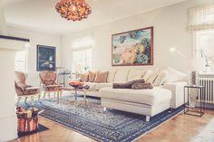 Vit Elefanten divansoffa. Divan, soffa, djup soffa, vardagsrum, inredning, möbler, krom. http://sweef.se/soffor/99-elefanten-divansoffa.html