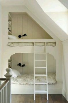 Beds in the wall, perfect for our cape style home
