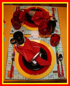 Tablescape - Monopoly; Game Night Party