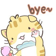 Happy Stickers, Cat Stickers, Bye Gif, Cute Love Cartoons, Cute Cartoon Animals, Cute Pins, Animal Memes, Cute Drawings, Princesses