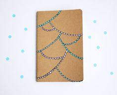 Pastel Bunting Notebook Illustration Journal Travel door myhideaway, $10.00