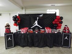 "Jumpman Inspired / Baby Shower ""Welcome Baby Axton"""