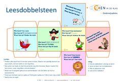 Leesdobbelsteen voor kinderen van 2-7 jaar. Zo maak je lezen leuk! Van ZIEN in de Klas! #dobbelsteen #lezen #dyslexie #kinderboekenweek #zienindeklas #leesdobbelsteen