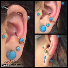 So today @beautifulreasoning came to visit and she gave me the honour of adding this #conch #piercing to her #ear which is stunning. You made my day! #kendrajane #appmember #safepiercing #anatometal #dragonfx #dfx #implantgrade #bodyjewelry