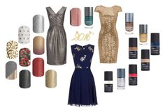 Jamberry Nail Wraps New Years Eve 2016 by kspantonjamon on Polyvore featuring beauty, Brevity., Little Mistress, Badgley Mischka and Wallis