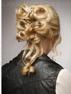 Bow Bun Hairstyle for Prom Back View
