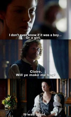 """It was a girl"" - Claire and Jamie #Outlander"