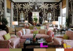 Black and White tropical home decor   Tropical Black and White Wallpaper   Home Decor Ideas