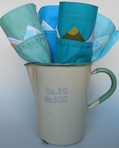 Scrappy Fabric Napkin Tutorial with Mitred Corners