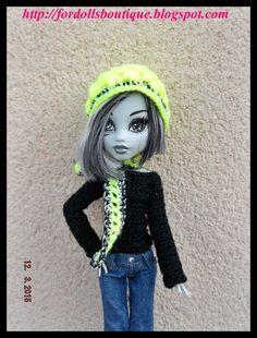 Gorro, bufanda y jersey para muñecas Monster  de mamimonster por DaWanda.com