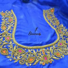 Ping on 7299852557 to book an appointment Peacock Blouse Designs, Brocade Blouse Designs, Peacock Embroidery Designs, Best Blouse Designs, Simple Blouse Designs, Designer Blouse Patterns, Mirror Blouse Design, Hand Work Blouse Design, Magam Work Designs