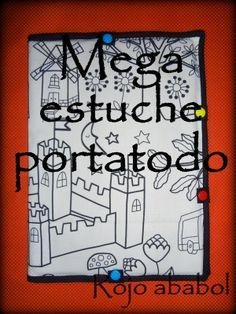 Rojo Ababol: MEGA ESTUCHE PORTA-TODO