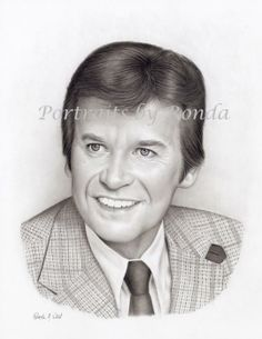 Dick Clark by rondawest {from USA} ~ pencil portrait