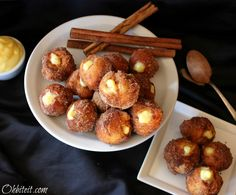 Cinnamon Puffed Poppers of perfection! Snickerdoodles are my favorite! Just Desserts, Delicious Desserts, Dessert Recipes, Yummy Food, Dessert Ideas, Poppers Recipe, Relleno, Sweet Recipes, Yummy Recipes