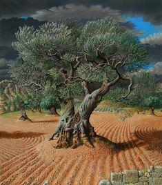 L'olivier, Peinture de Miriam Escofet, Artiste Peintre (Espagne)