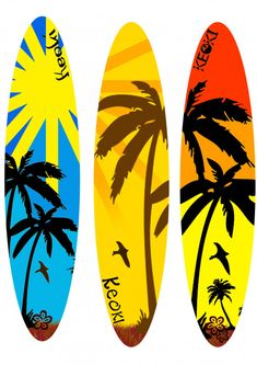 Surfing holidays is a surfing vlog with instructional surf videos, fails and big waves Surfboard Painting, Surfboard Decor, Surf Decor, Surfboard Shapes, Decoration Surf, Tiki Bar Decor, Longboard Design, Good Vibe, Surf Art
