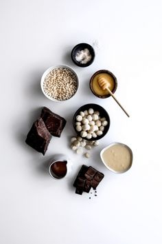 Salted Honey Millet & Macadamia Bars with Dark Chocolate  |  Gather & Feast