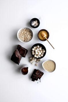 Salted Honey Millet & Macadamia Bars with Dark Chocolate  |  Gather & Feast