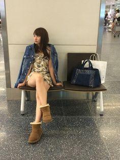 永尾まりや(AKB48)さんのブーツ「UGG 」を使ったコーディネート