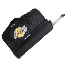 861e8832266 NBA Los Angeles Lakers Mojo 27 Rolling Drop Bottom Duffel Bag