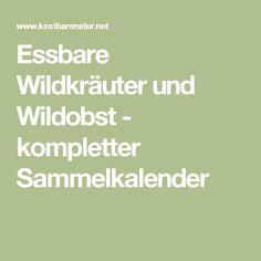 Essbare Wildkräuter und Wildobst - kompletter Sammelkalender