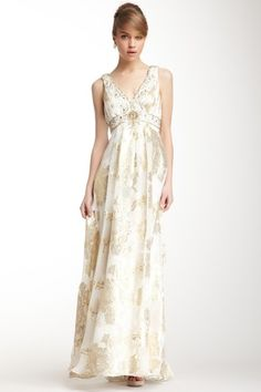 Sue Wong Beaded & Pleated Bodice Gown by Sue Wong on @HauteLook