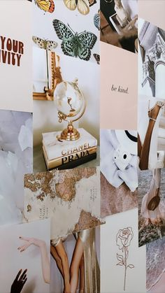 Minimal Beige Digital Collage Kit | Dorm Decor | Photo Collage