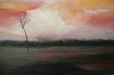 Abenstimmung im Moor, Öl auf Lw, 80 x 120 cm www. Saatchi Online, Oil On Canvas, Saatchi Art, Art Prints, Sunset, Artist, Landscapes, Painting, Paisajes