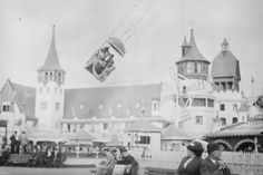 Coney Island Aerial Swing Luna Park 4x6 1920s Reprint Of Old Photo