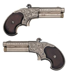 Factory engraved Remington Rider Magazine pistol, circa 1870's and 1880's.