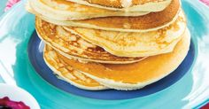 Pancakes dodues Vegetarian Pancakes, Ricardo Recipe, Brunch, Cooking Recipes, Breakfast, Ethnic Recipes, Sweet, Desserts, Food
