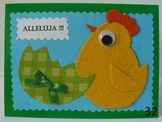 Easter scrapbooking card - Kartka Wielkanocna – kura z filcu Handmade Decorations, Scrapbooking, Easter, Cards, Easter Activities, Maps, Scrapbooks, Playing Cards, Memory Books