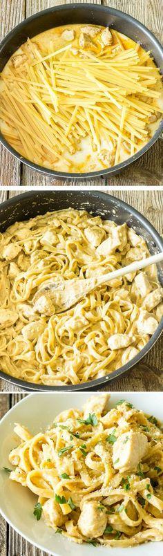 One Pot Wonder Cajun Chicken Alfredo Recipe | Foodboum