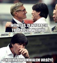 Adam Nawałka - Mówiłeś, że wygracie to z palcem w • Joachim Loew zapomniał włożyć w meczu z Polską • Memy Polska Niemcy • Zobacz >> #loew #euro #euro2016 #polska #niemcy #memy #football #soccer #sports #pilkanozna Soccer Memes, Euro, Turtle, Football, Celebrities, Funny, Sports, Soccer, Hs Sports