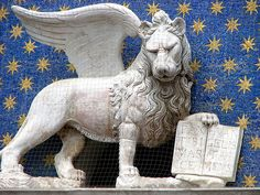 The proud image of the lion is everywhere in Venice; gazing down from buildings, looking out from the keystone of an archway, or standing on fluted columns...